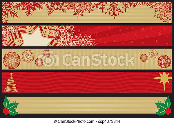 Christmas Web Banners - csp4873344