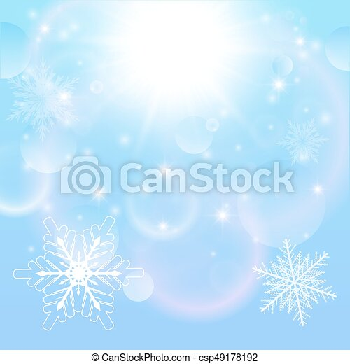 Christmas winter background - csp49178192