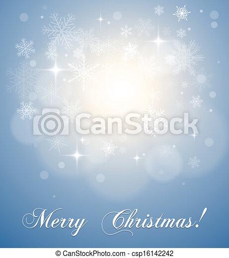 Christmas, winter background - csp16142242