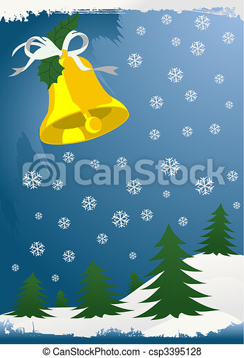 Christmas winter background with toys and gifts. - csp3395128