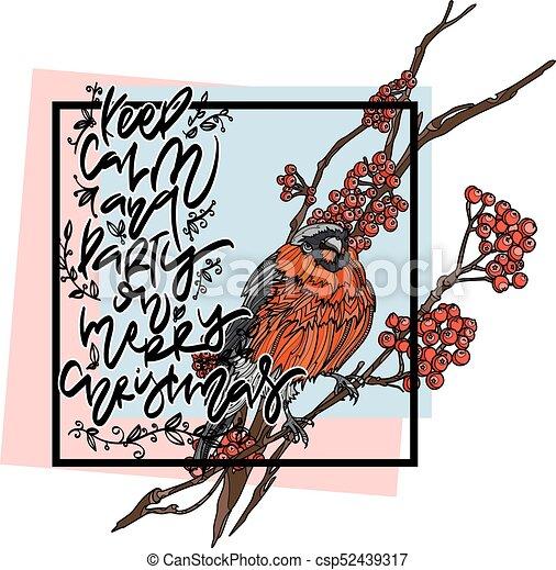 Christmas winter greeting card. - csp52439317