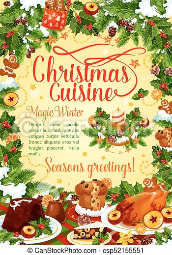 Christmas winter holiday banner of new year dishes christmas winter christmas winter holiday banner of new year dishes csp52155551 m4hsunfo