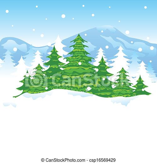Christmas Winter Landscape - csp16569429
