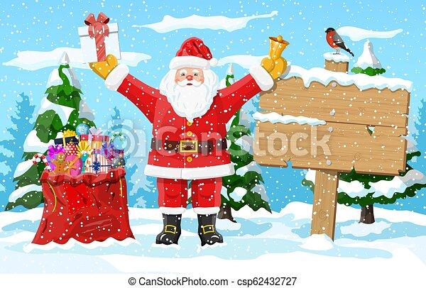 Christmas winter landscape - csp62432727