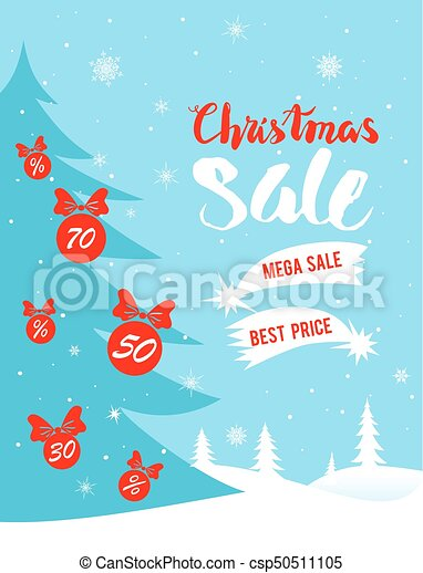 Christmas Leaflet Background.Christmas Winter Sale Poster
