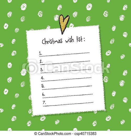 Printable Christmas Wish List Template.Christmas Wish List Template Hand Drawn Elements Printable Design
