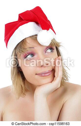 christmas woman - csp11598163
