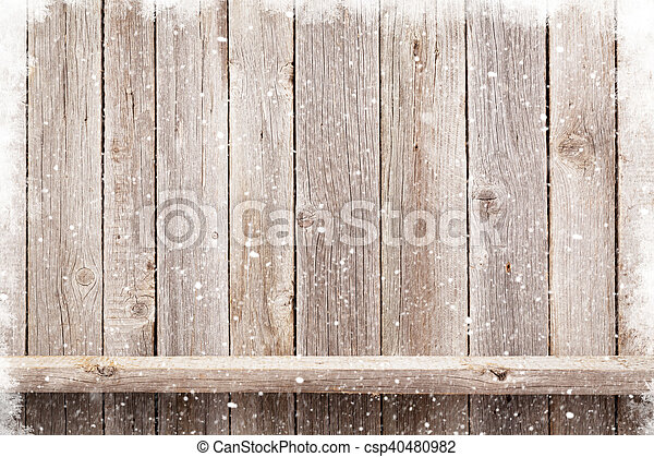 Christmas wooden background - csp40480982