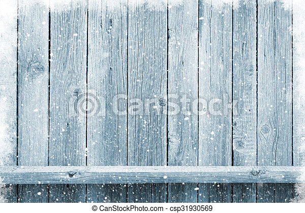 Christmas wooden background - csp31930569