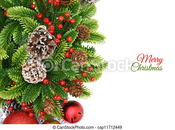 Christmas wreath background - csp11712449
