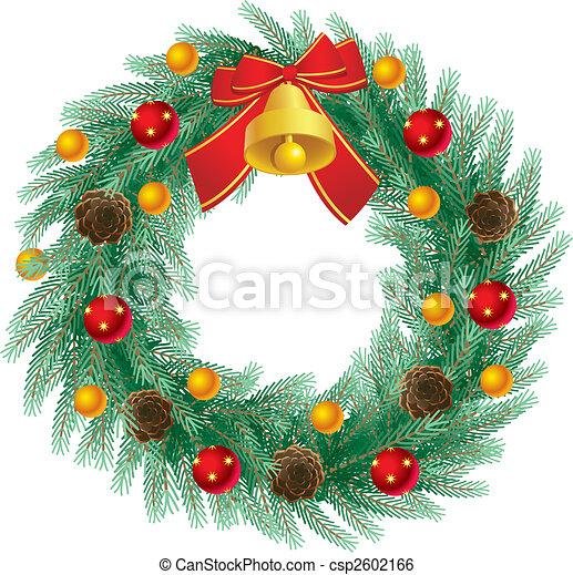 christmas wreath - csp2602166