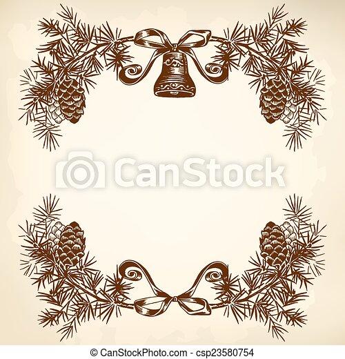 Christmas wreath - csp23580754