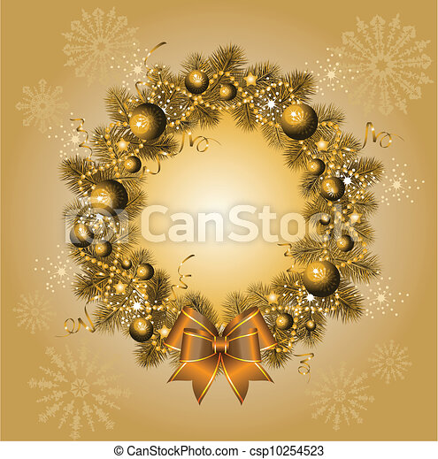 christmas wreath - csp10254523