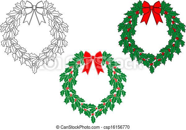 Christmas wreath - csp16156770