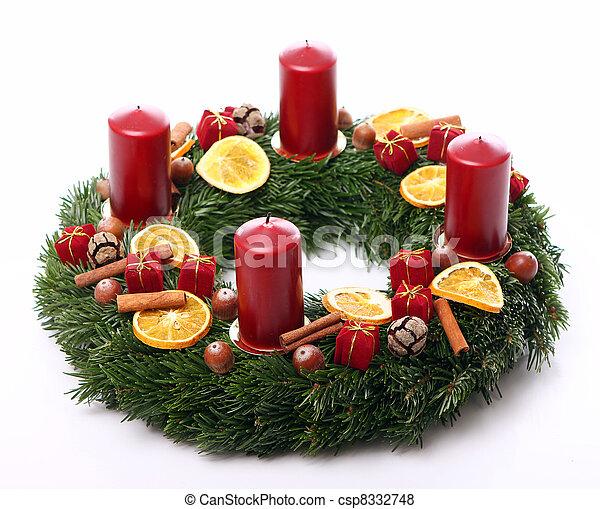 Christmas wreath - csp8332748