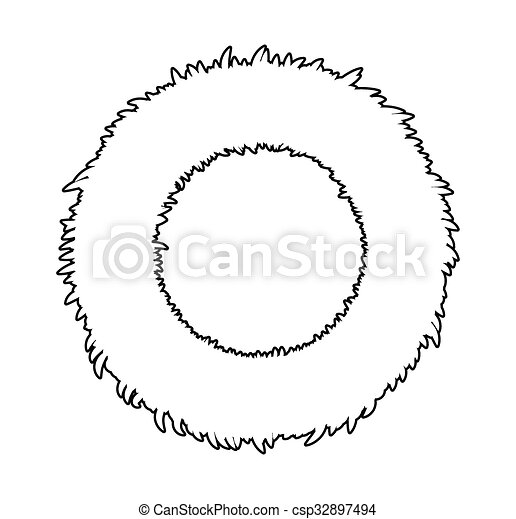 Christmas Wreath Silhouette.Christmas Wreath Silhouette Vector Symbol Icon Design Illustration Isolated On White Background