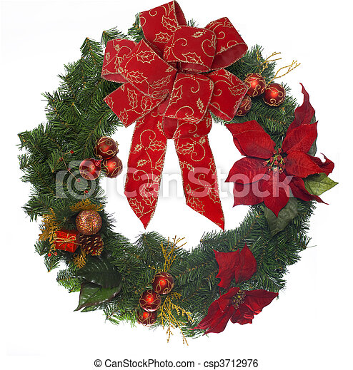 Christmas Wreath - csp3712976