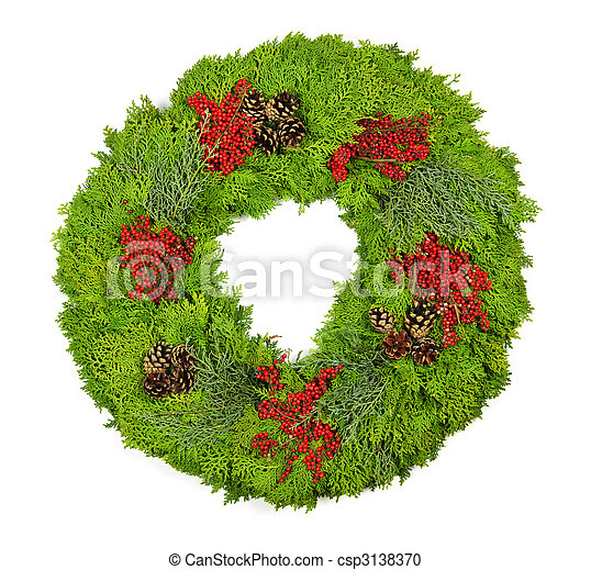 Christmas wreath - csp3138370