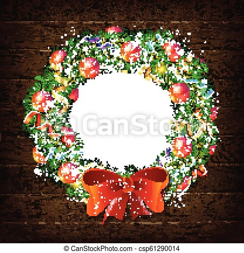 graphic regarding Christmas Wreath Printable known as Xmas wreath template 2019