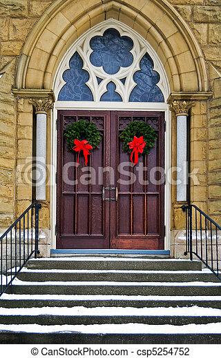Christmas Wreaths - csp5254752