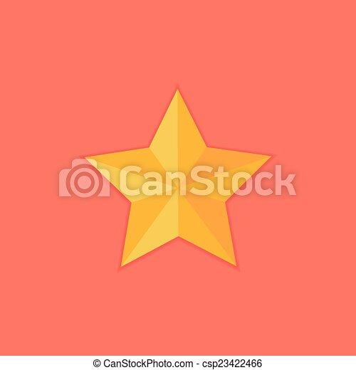 Christmas Yellow Star Flat Icon - csp23422466