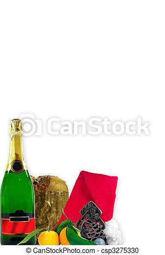 Tarjeta de Navidad y Año Nuevo - csp3275330