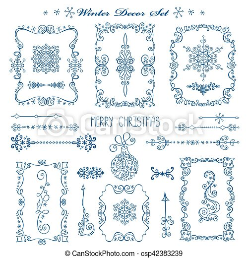 christmasnew year framesbordersdecor set csp42383239