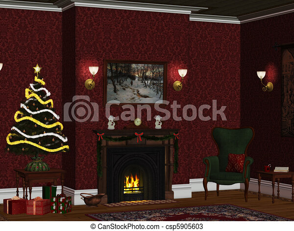 christmasroom 1 - csp5905603