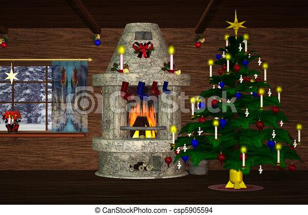 Christmasroom 2 - csp5905594