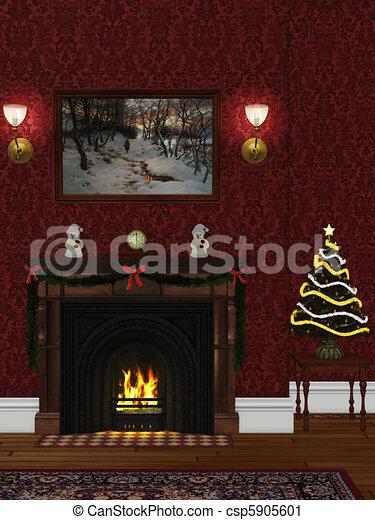 christmasroom - csp5905601