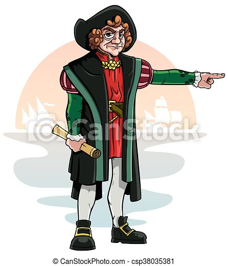 cartoon of christopher columbus vector search clip art rh canstockphoto com christopher columbus ships clipart Christopher Columbus Pictures of Him