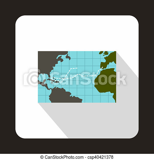 Christopher columbus voyage map icon flat style christopher christopher columbus voyage map icon flat style csp40421378 gumiabroncs Choice Image