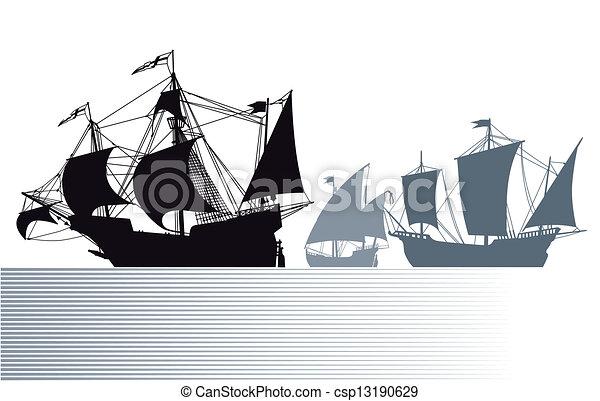 Die Schiffe von Christopher Columbus - csp13190629