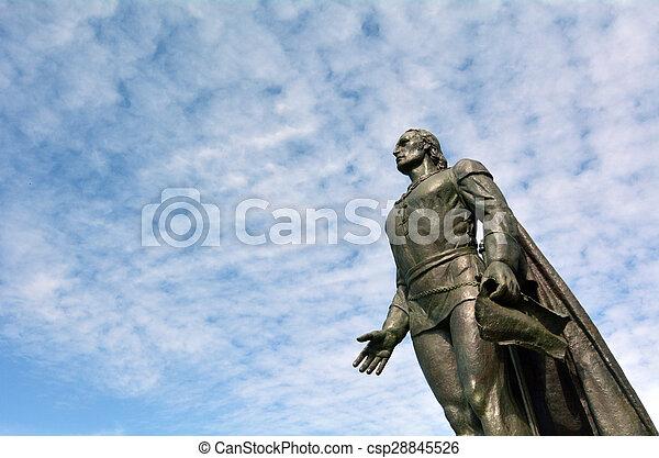 christopher, skulptur, columbus - csp28845526