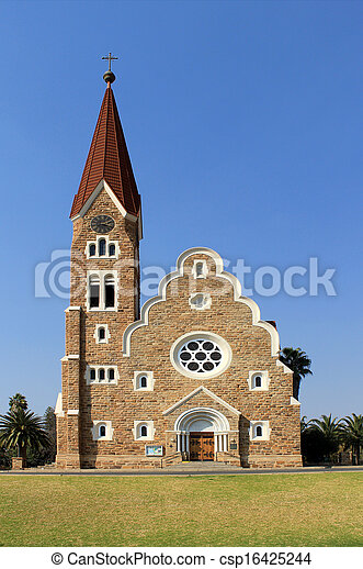 Christuskirche, famous Lutheran church landmark in Windhoek - csp16425244