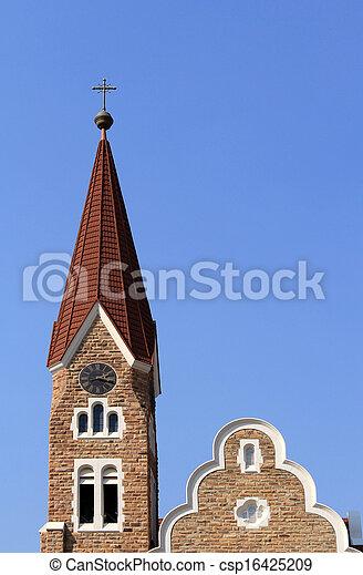 Christuskirche, famous Lutheran church landmark in Windhoek - csp16425209