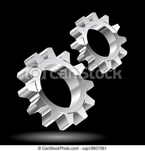 Chrome gears. - csp18607061