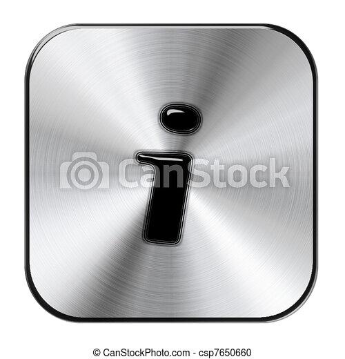 Chrome Information Button - csp7650660