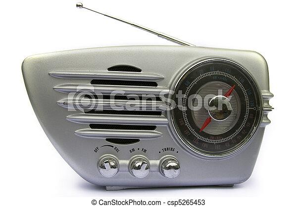 Chrome retro radio - csp5265453