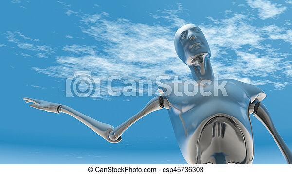 Chrome Robot - csp45736303