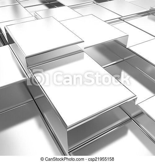 Chrome urban background - csp21955158