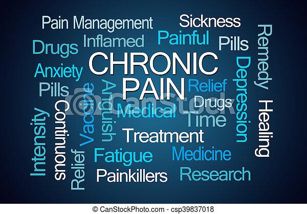 chronique, mot, douleur, nuage - csp39837018