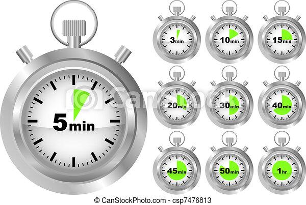 Chronom tre minuteur diff rent positions collection - Chronometre et minuteur ...