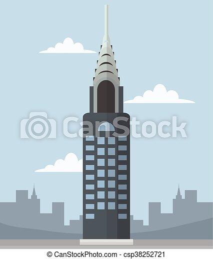 chrysler building banner rh canstockphoto com Chrysler Building Clip Art Chrysler Building at Night