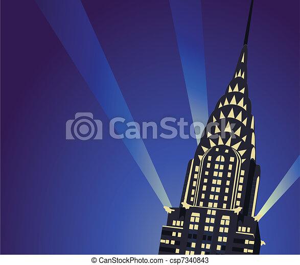chrysler building background illustration with chrysler building rh canstockphoto com chrysler building silhouette vector Chrysler Building Clip Art