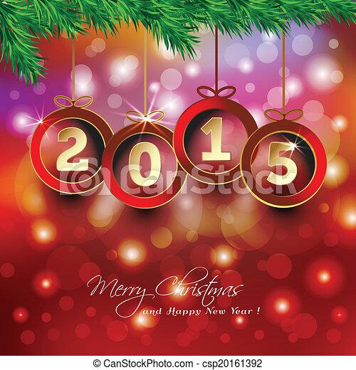 Feliz Año Nuevo 2015 antecedentes con la Navidad - csp20161392