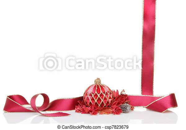 Lazo de Navidad y popurrí - csp7823679