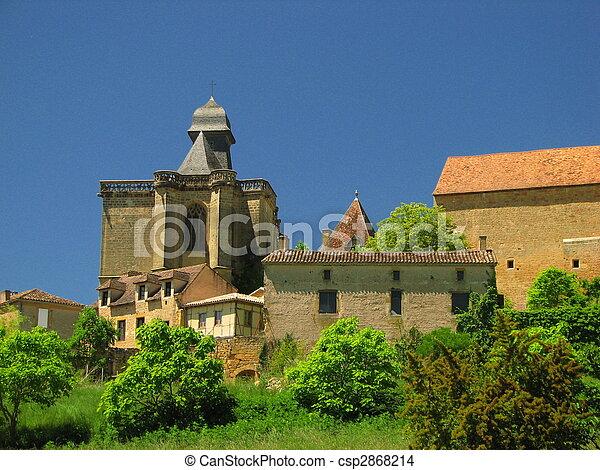 Church and Castle Of Biron, Perigord - csp2868214