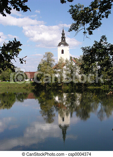 Church and River - csp0004374