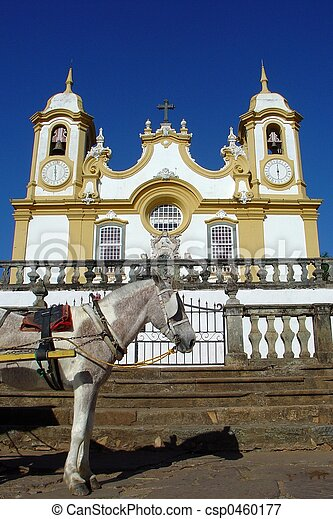 Church and the horse - csp0460177